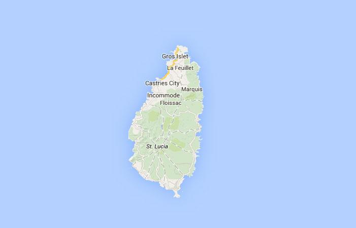 Mapa de Santa Lucía