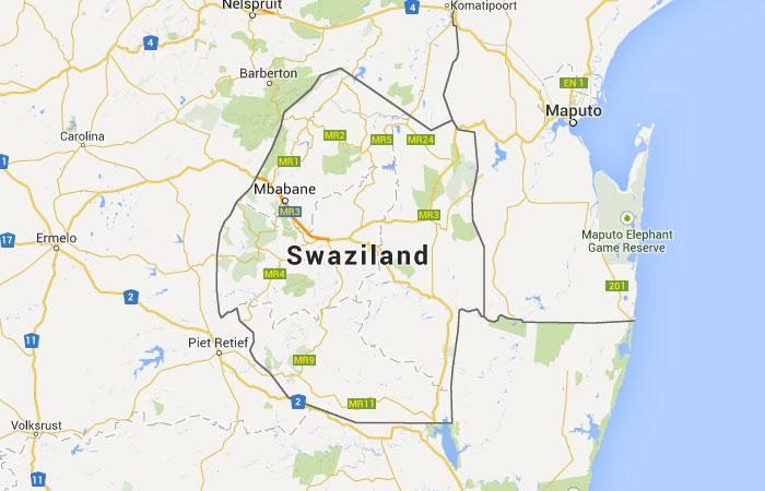 Mapa de Swazilandia
