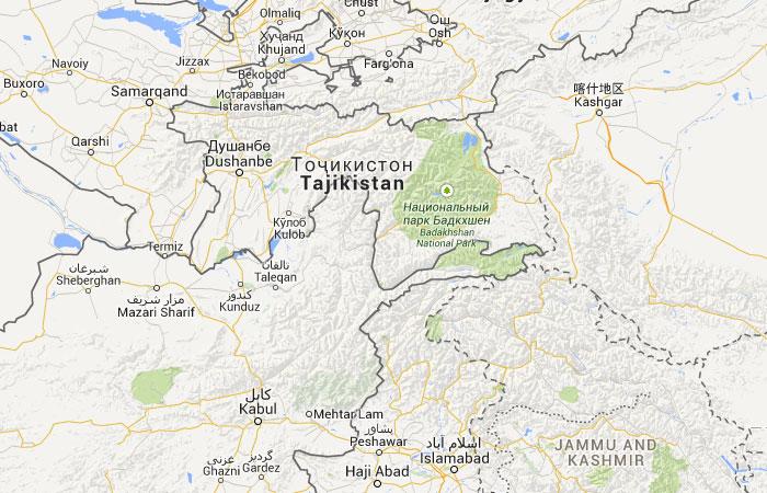 Mapa de Tayikistán