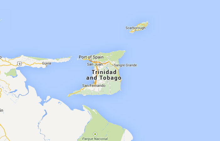 Mapa de Trinidad y Tobago