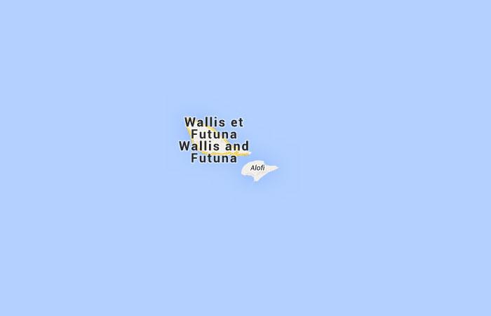 Mapa de Wallis y Futuna