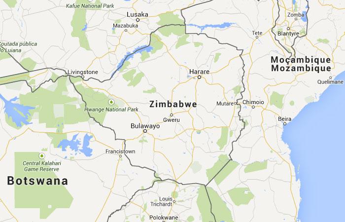Mapa de Zimbabwe (Zimbabue)