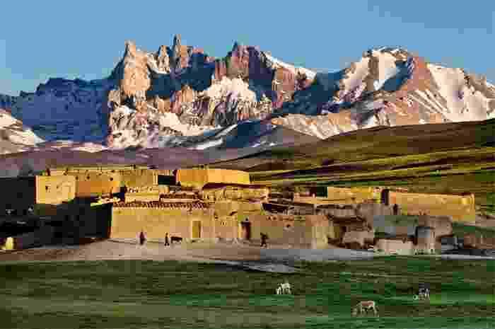 Aldea montañosa de Qala e Sabzi