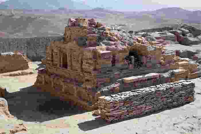 Estupa budista excavada en el yacimiento de Mes Aynak, a unos 40 km al sur de Kabul