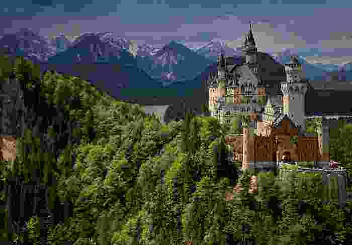 Castillo de Neuschwastein en la región de Baviera