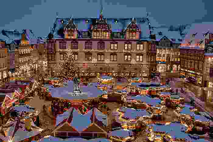 Mercadillo navideño de la ciudad alemana de Coburg
