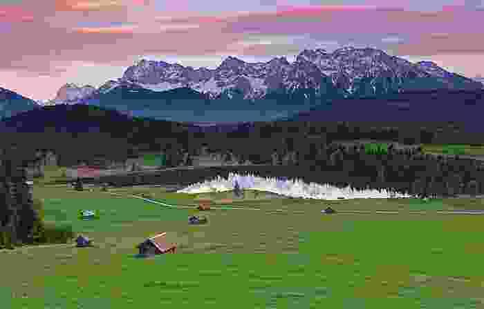 Paisaje de los Alpes alemanes