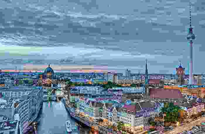 Panorámica de Berlín en Alemania