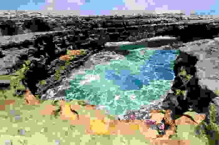 Zona rocosa de la costa de Antigua
