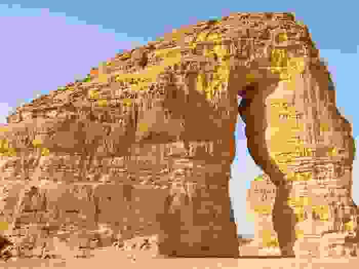 Roca de las ruinas de Mada'in Saleh