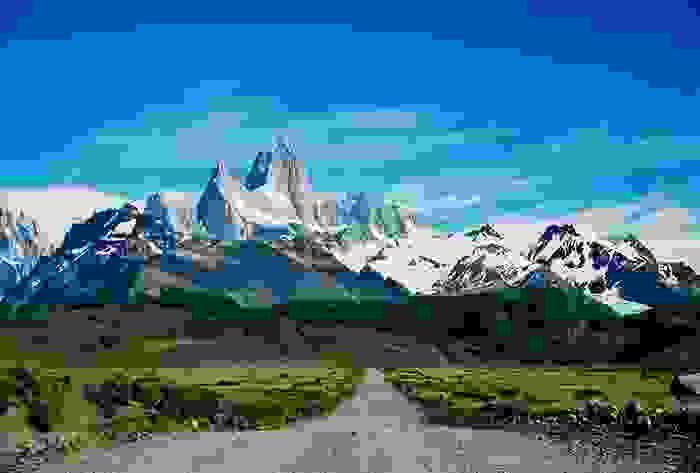 Camino al Chalten en la Patagonia