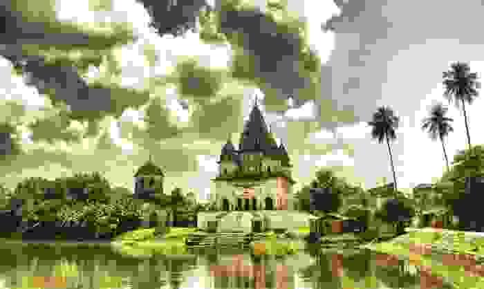 Templo de Shiva del complejo de Puthia, el más grande del país