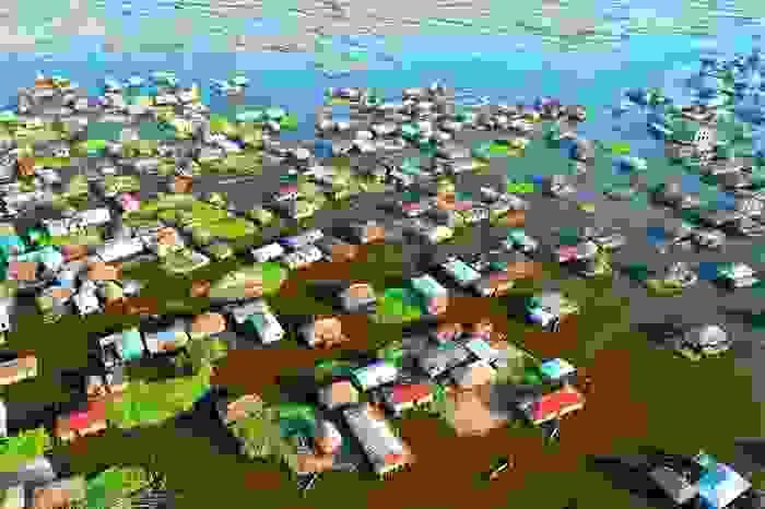 Ganvié, aldea contruida sobre pilares en el lago Nokoué