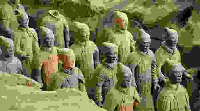 Guardianes del Mausoleo del primer Emperador Qin, en el Jardín prohibido