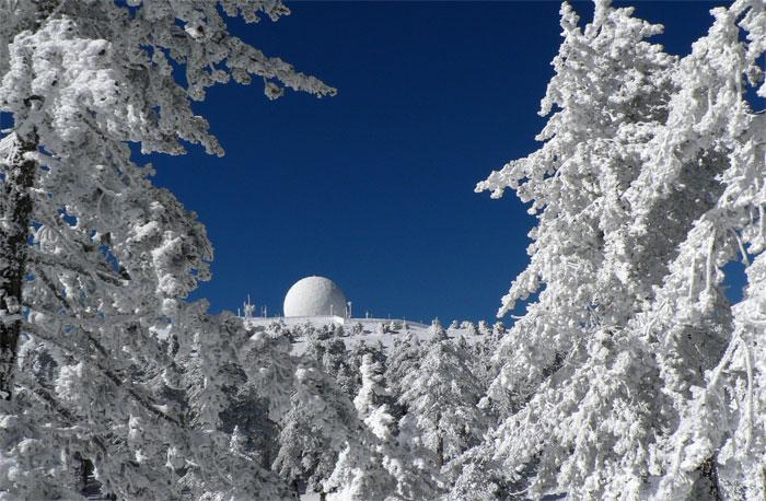 Monte Olimpo de Chipre en invierno
