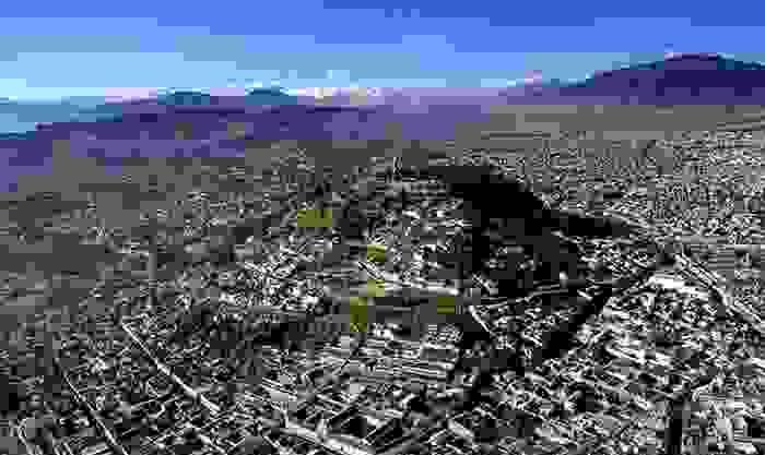 Vista aérea de la ciudad de Quito