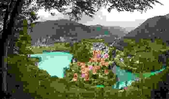 Río Soca a su paso por una pequeña población