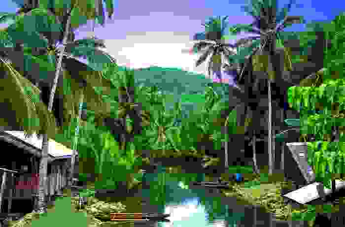 Paisaje de la isla de Siargao