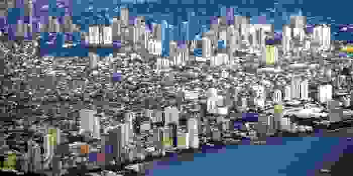 Vista aérea de Manila