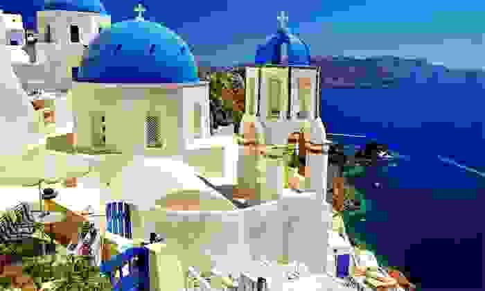 Vistas de la famosa población de Santorini