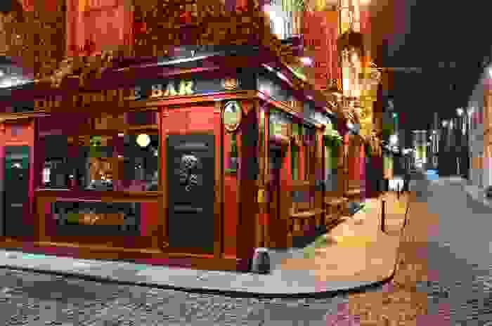 The Temple bar, paso obligado en Dublín