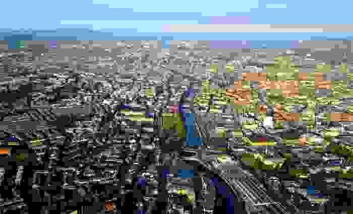 Vista panorámica de Dublín