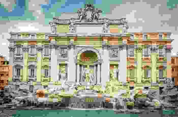 Fontana di Trevi, en Roma
