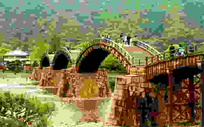 Puente de madera de Kintai