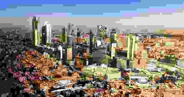 Vista de la ciudad de Ammán, zona moderna