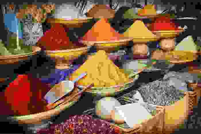 Especias típicas del país marroquí