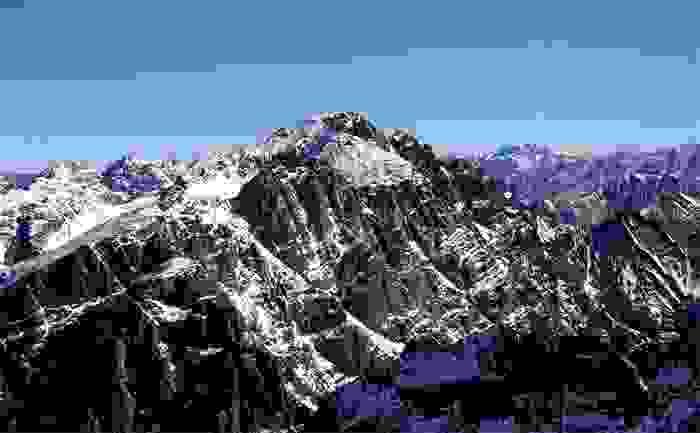 Monte Toubkal, en la cordillera del Atlas