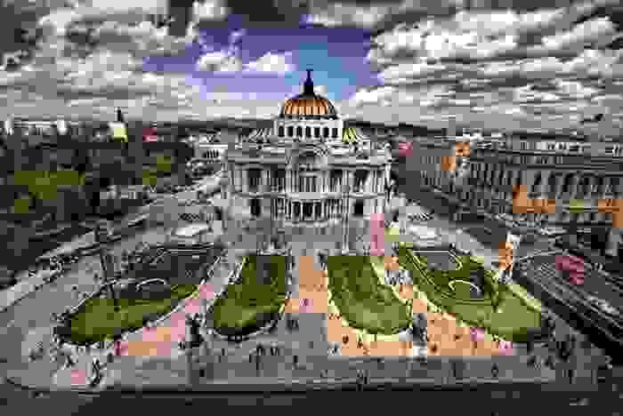 Palacio de Bellas Artes en la Ciudad de Mexico