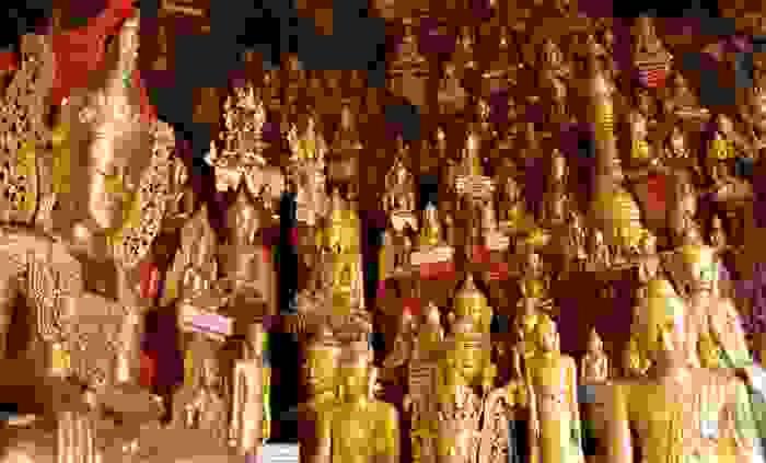 Cuevas de Pindaya, las cuales albergan ocho mil estatuas de Buddha