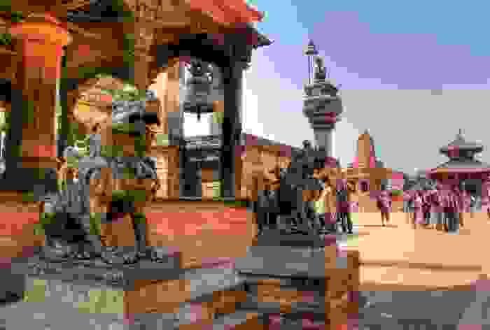 Templo en Durbar Square