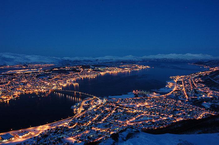 Tromso, ciudad más boreal del mundo de entre las ciudades con más de 50000 habitantes