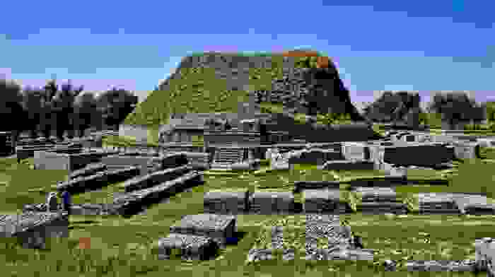 Taxila, ruinas de la antigua ciudad de Gandhara