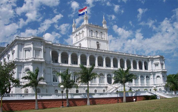 Palacio de los López en la ciudad de Asunción, sede del Gobierno actual