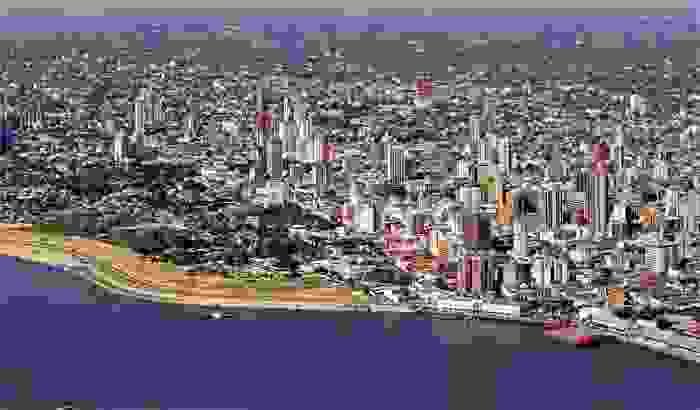 Vista aérea de la ciudad de Asunción