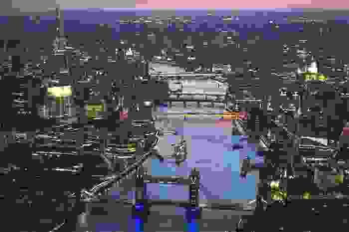 Vista aérea de la ciudad de Londres