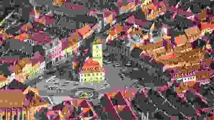 Vista de Brasov, Transilvania