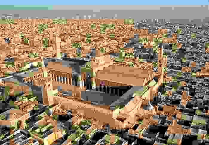 Ciudad de Damasco, con la Mezquita de los Omeya