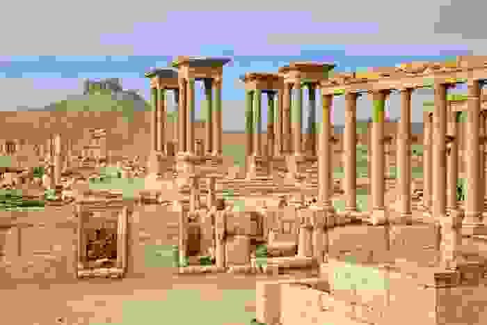 Restos de la antigua ciudad de Palmira