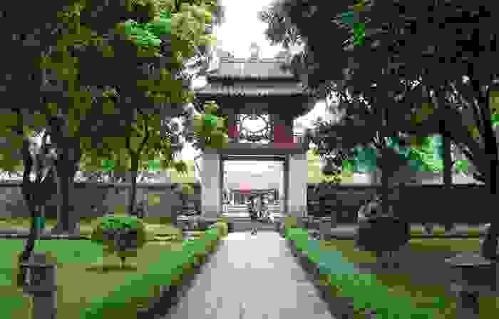 Templo de la Literatura en la ciudad de Hanoi